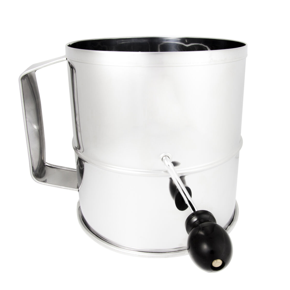 FLOUR SIFTER-SS 8-CUP