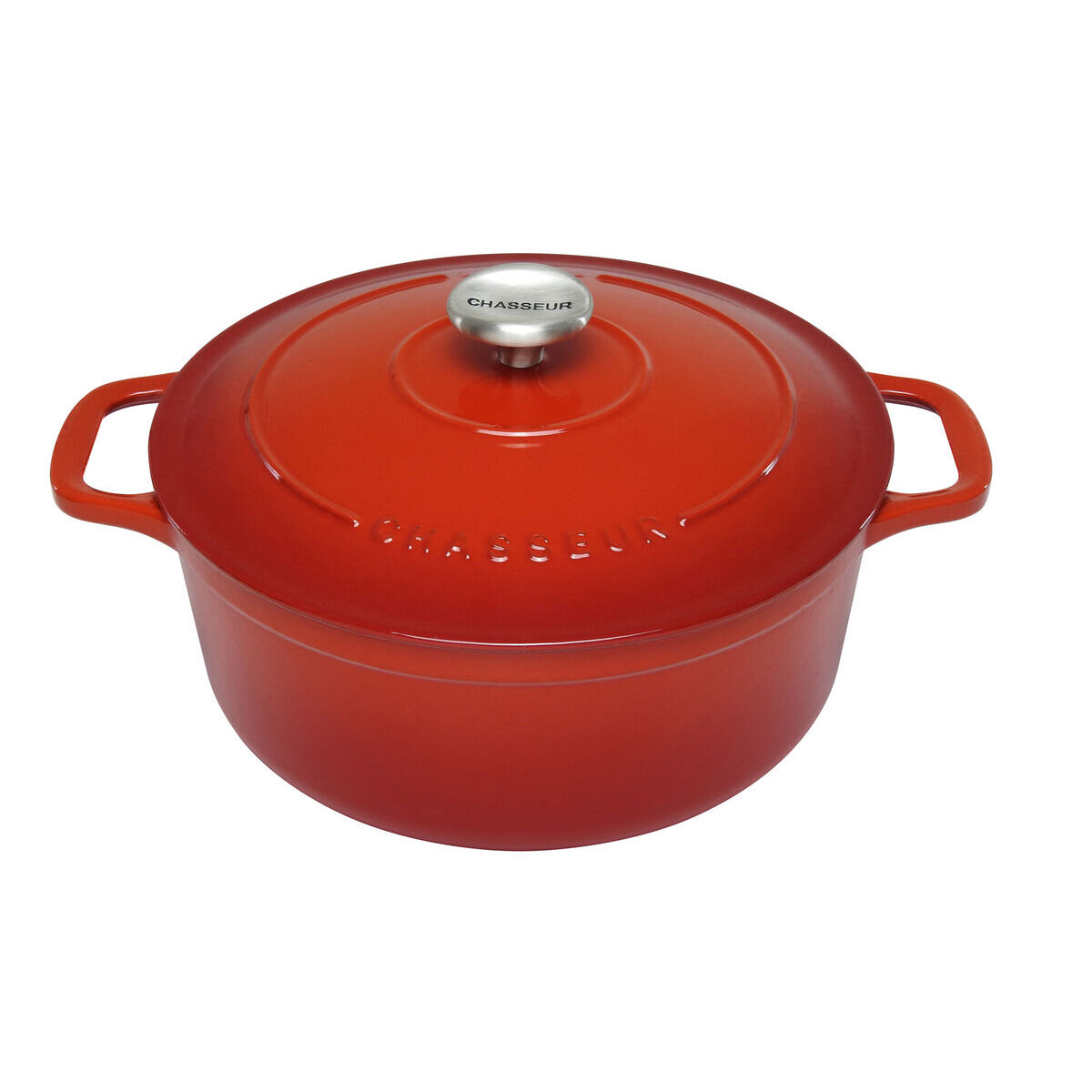 Round 26cm Inferno Red Chasseur 52ltr