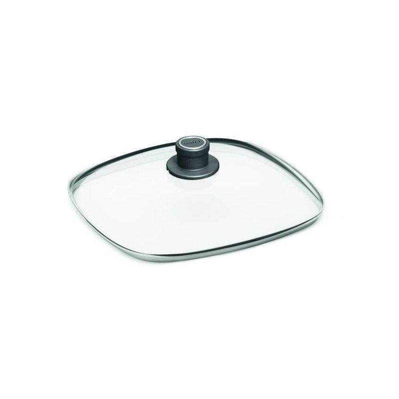 woll LID SQUARE SAFETY GLASS 28CM