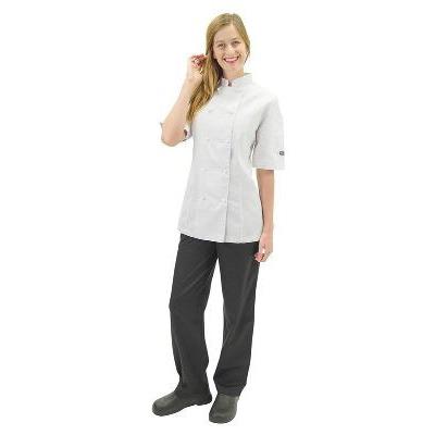 PRO LADIES WHITE JACKET SMALL SIZE10 SHORT SL