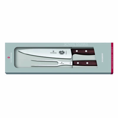 Victorinox Rosewood Carving Set 19cm Knife 15cm Fork